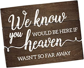 Elegant Signs Remembrance Sign Memorial We Know You Would be here Today (11 inch x 14 inch)