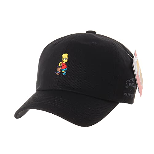 WITHMOONS The Simpsons Ball Cap Bart Skateboard Matt Groening HL1583 6a9f19dd5b5