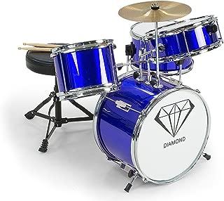 Childrens 4 Piece Blue Diamond Drum Kit Set Musical Instrument,kids