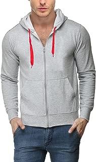 Scott International Men's Rich Cotton Sweatshirt with Zip - Grey