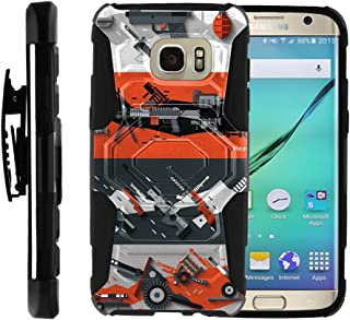 TurtleArmor | Compatible with Samsung Galaxy S7 Case | G930 [Octo Guard] Armor Hybrid Hard Shell Tough Kickstand Shock Silicone Holster Belt Clip War and Military - Heavy Artillery