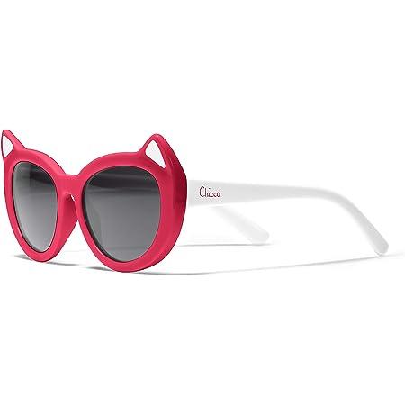 Chicco - Gafas de Sol Infantiles Para Niños De 3 años, Con Montura flexible y Lentes Anti Arañazos, Color Rojo Gato
