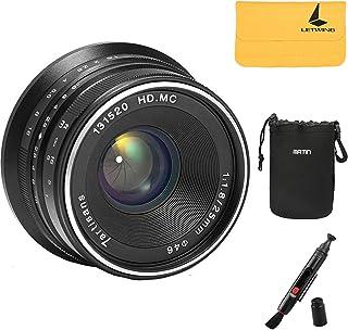 【正規品】カメラ/一眼レンズカメラ用 7artisans 25mm F1.8 単焦点レンズ マニュアルフォーカスの総理の固定レンズキヤノン・エオスmの山のリストをEOS-M1 EOS-M2 EOS-M3 EOS-M5 EOS-M6 EOS-M10 EOS-M100 EOS-M50(ブラック)