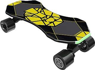 "Swagtron Swagskate NG3 Electric Skateboard for Kids, Teens   Kick-Assist A.I. Smart Sensors   Boosted Mini E-Cruiser Skateboard w/Move-More/Endless Mode   9"" Deck 72mm Wheels"