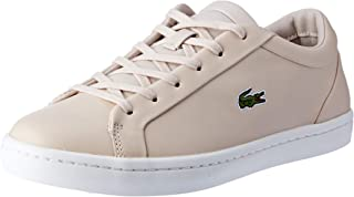 Lacoste Straightset Lace 317 3 Women's Fashion Shoes, LT PNK