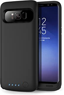 Galaxy S8 Battery case 6000mAh, HETP Protective Rechargeable External Battery Pack for Samsung Galaxy S8 Charging Case Portable Backup Power Bank for Galaxy S8 (5.8 inch) -Black