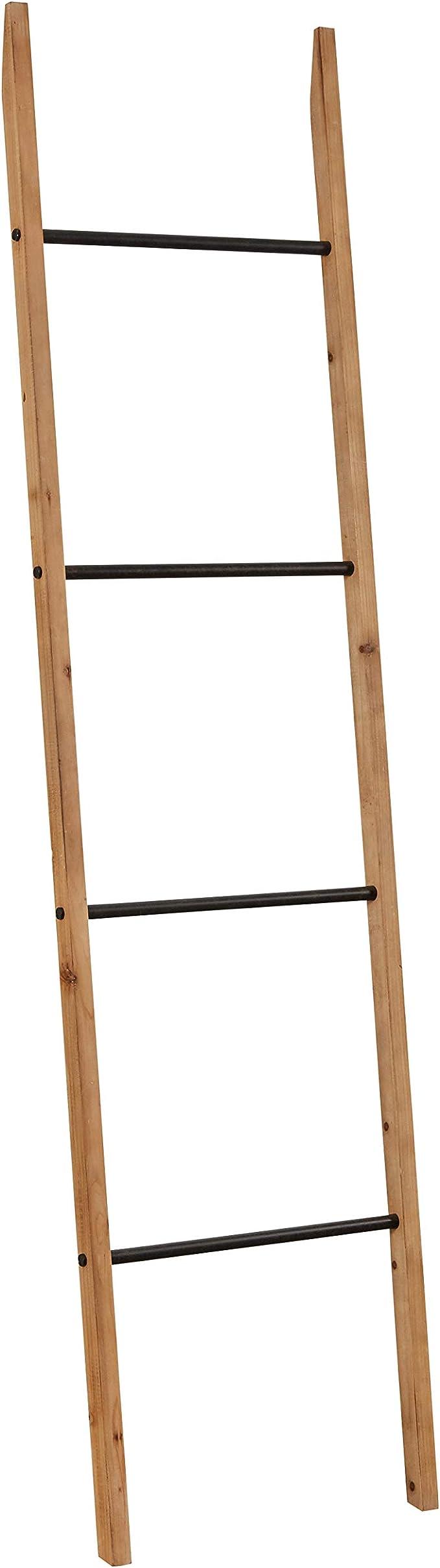 Amazon Brand – Rivet Contemporary Fir Decorative Blanket Ladder with Iron  Rungs   20.20