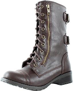 d430b50e0c8e SODA Dome Mid Calf Height Women s Military Combat Boots