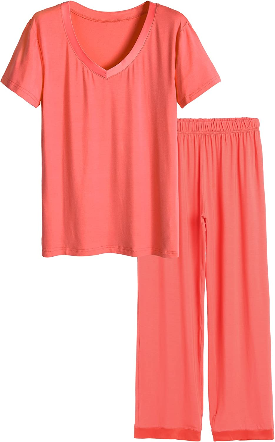 Latuza Women's V-neck Sleepwear Short Pants Paj with Special Campaign Challenge the lowest price Sleeves Top