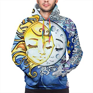Hooded Sweatshirts Casual Sunflowers Cotton Hoodies Pullover Hooded Sweatshirts for Men's