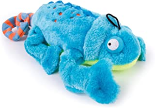 goDog Amphibianz Chameleon with Chew Guard Technology Plush Squeaker Dog Toy, One Size