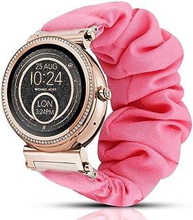 Compatible for Michael Kors Sofie Band, Blueshaw Fabric Elastic Scrunchie Elastic Watch Band Women Cute Replacement Straps Compatible for Michael Kors Access Sofie Gen 3 / Gen 4 Smartwatch