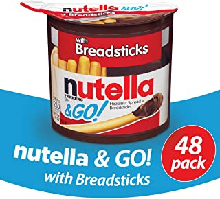Nutella and Go Snack Packs, Chocolate Hazelnut Spread with Breadsticks, 1.8 Ounce,48 Count