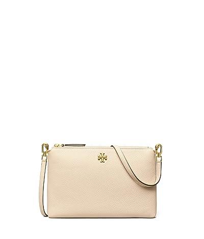Tory Burch Kira Pebbled Wallet Crossbody (New Cream) Handbags
