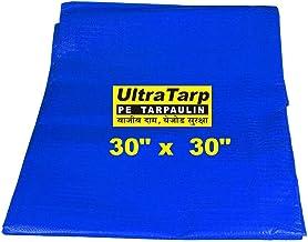 UltraTarp PE Tarpaulin (30 ft x 30 ft) - 120 GSM Blue 100% Pure Virgin UV Treated Waterproof Plastic Sheet