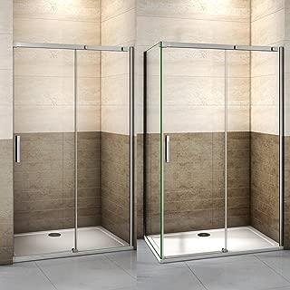 160x195cm Mamparas de ducha puerta de ducha 8mm vidrio templado de Aica