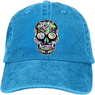 Adults Prismatic Sugar Skull Adjustable Casual Cool Baseball Cap Retro Cowboy Hat Cotton Dyed Caps