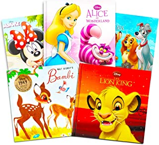 Disney Classics - Super Set of 5 Baby Toddler Storybooks (The Lion King, 101 Dalmatians, Minnie Red Riding Hood, Bambi, 3 ...