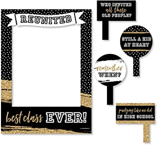 Big Dot of Happiness Reunited - School Class Reunion Party Selfie Photo Booth Picture Frame & Props - Printed on Sturdy Material