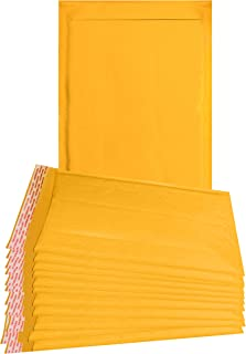 25 Pack Yellow Kraft padded envelopes 9.5 x 13 Yellow Bubble Mailers 9 1/2 x 13 bubble envelopes Peal and Seal. Golden cushion envelopes for shipping, packing. Laminated kraft paper in bulk, wholesale