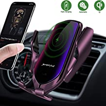 Wireless Car Charger Mount,Automatic Clamping Air Vent Phone Wireless Car Charger Holder,10W/7.5W Qi Fast Car Charging,Compatible with iPhone Xs MAX/XS/XR/X/8/8+, Samsung S10/S10+/S9/S8 (Gun-Plated)