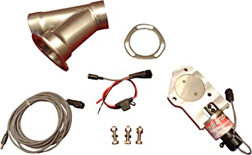 VOWAGH 2.5 Inch Electric Exhaust Downpipe Cutout E-Cut Out Valve Controller Remote Kit Fit for 2.5 Exhaust Piping