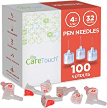 Care Touch Pen Needles 32 Gauge, 5/32 inches, 4mm (Pack of 100)