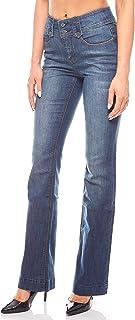 5fa8e053f0dcd Arizona Jeans Stretch Taille Haute Passepoils passepoilés Femmes Bleu