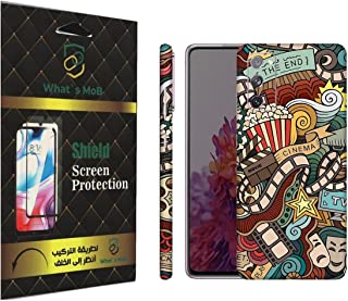For SAMSUNG Galaxy S20 FE back full skin Doodle 04 soft felling Hd print by whats mob (Not Cover)
