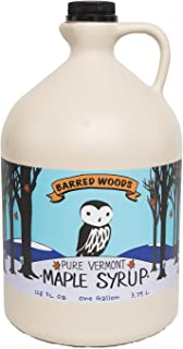 Organic 1 Gallon Amber Rich Vermont Maple Syrup - Grade A - From Barred Woods Maple
