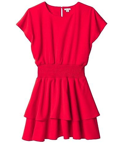HABITUAL girl Multi Tiered Crepe Dress (Big Kids) (Red) Girl