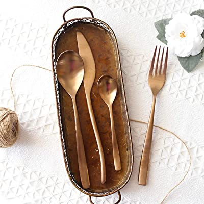 Sinngukaba Rose Gold 304 Cutlery Set Western Cutlery Stainless Steel Cutlery