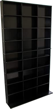 Atlantic Elite Media Storage Cabinet - New/Improved Tower, Stores 837 CDs, 630 Blu-Rays, 531 DVDs, 624 PS3/PS4 Games or 528 w