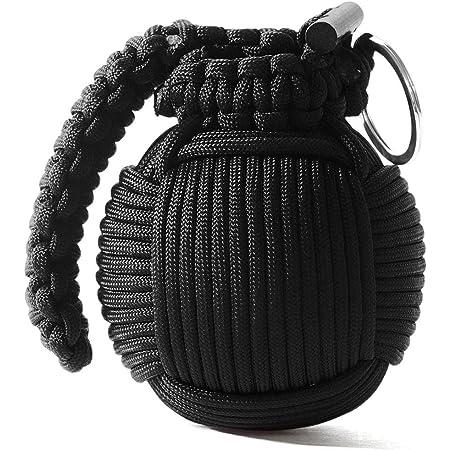 SHOP-STORY Noir Grenade de Survie kit de 21 Pi/èces avec Mousqueton