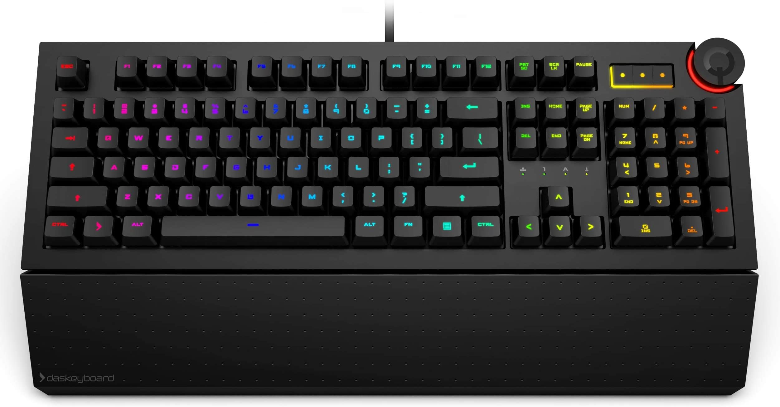 Das Keyboard 5Q Soft Tactile RGB Smart Mechanical Keyboard (DKPK5Q0P0GZS0USX)