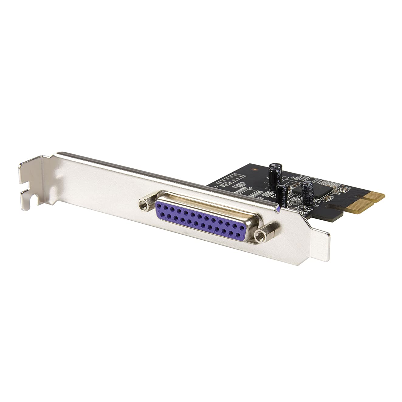 StarTech.com 1 Port PCI Express Dual Profile Parallel Adapter Card - SPP/EPP/ECP - 2x DB25 IEEE 1284 PCIe Parallel Card
