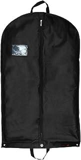 Hangerworld 1 Funda de Ropa 102cm Porta Traje Transpirable con Asas y Cremallera Negro Anti-Polvo