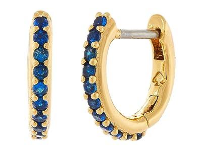 Kate Spade New York Tiny Twinkles Pave Huggies Earrings (Light Sapphire) Earring