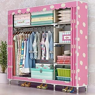 HWG Armoires en Tissu Armoire Penderie Installation Facile Gain De Place, avec Une Tringle à Vêtements, pour Chambre à Cou...