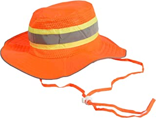 Ironwear 1271-O Booney Hat with adjustable neck strap, LG/XL, Orange