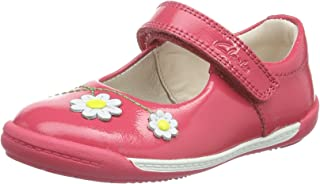 US Size 3.5W Baby Pink Leather UK Size 3G EU Size 18.5 Clarks Girls First Walking Shoes Softly Blossom