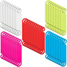 100 Pieces Cable Tags Cable Management Tags Multicolor Cable Labels Write on Cord Identification Tags for USB Computer Pho...