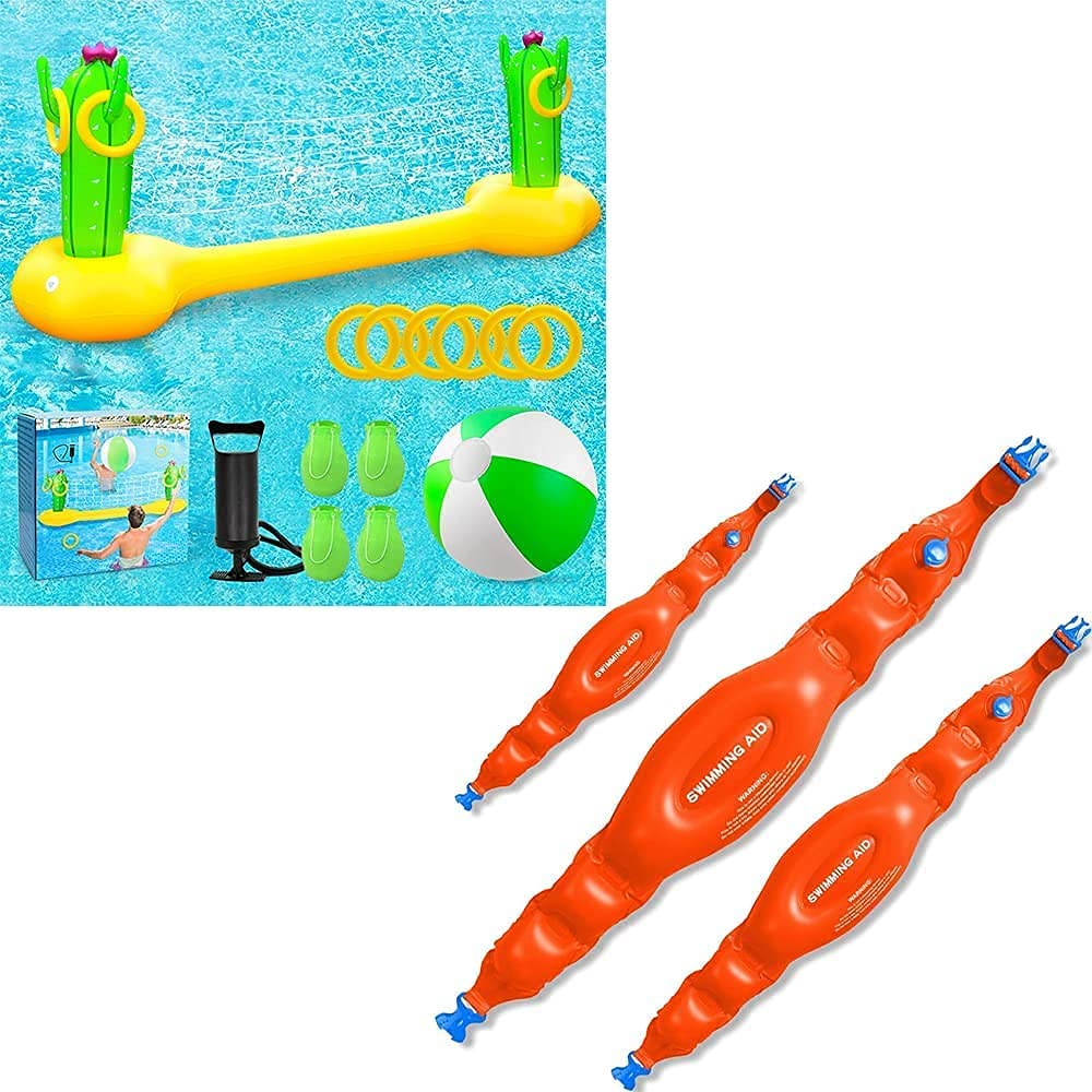 X XBEN Max 77% OFF Inflatable All items free shipping Pool Volleyball Toss Ring Floa Game with