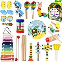 اسباب بازی های موسیقی کودکان و نوجوانان MAXZONE ، 31 قطعه 19 نوع ابزار چوبی اسباب بازی های تنبور زیلوفون برای کودکان و نوجوانان ، یادگیری آموزشی پیش دبستانی اسباب بازی های موسیقی پسرانه دختران دارای کوله پشتی