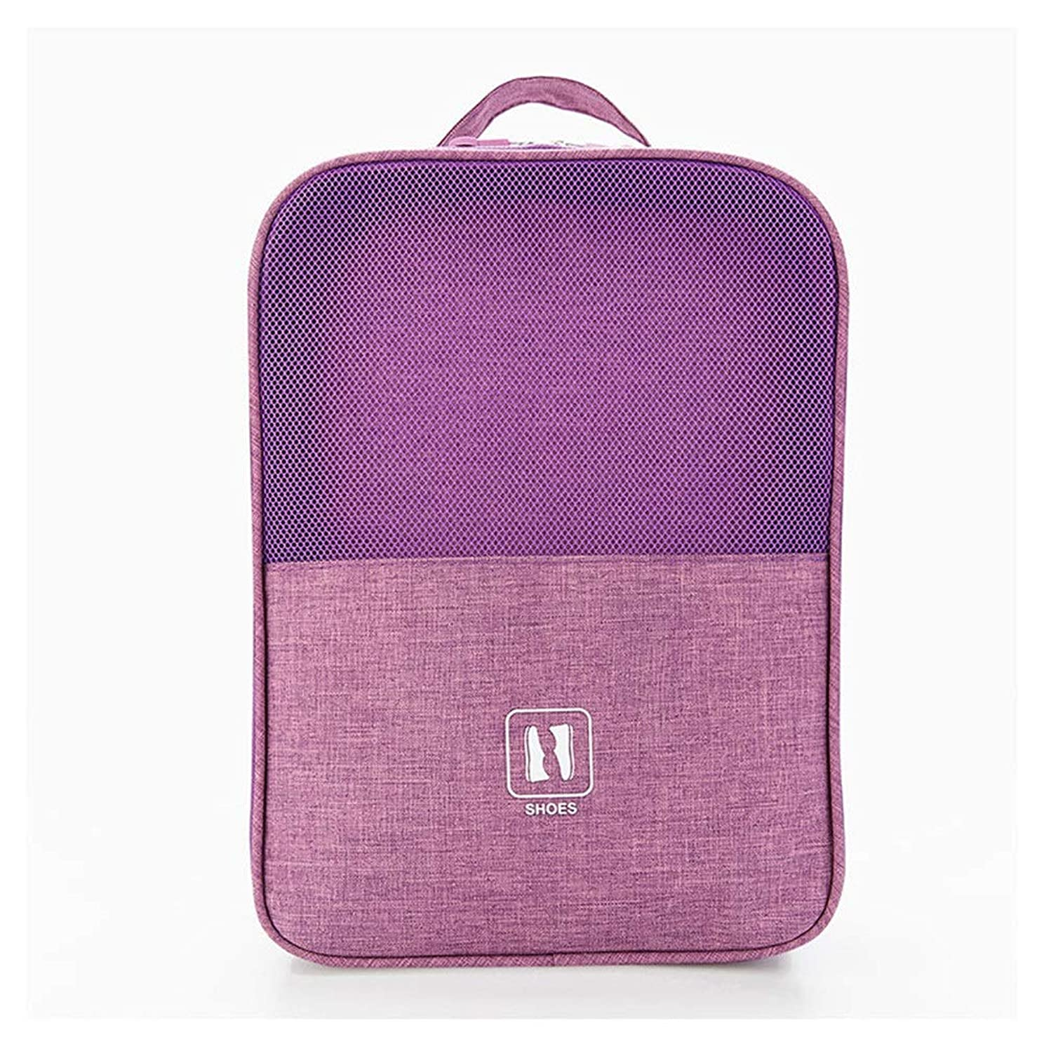 インストールカロリーバケット旅行用収納袋 靴収納袋パッキングキューブ旅行主催者防水旅行アクセサリー ハンドロールアップ再利用可能な服 (色 : Purple, Size : Free size)