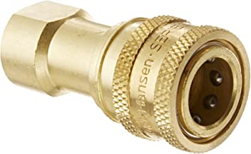 Plug with Valve 3//8 Body 3//8-18 NPTF Female 3//8 Body 3//8-18 NPTF Female Eaton Hansen B3K21 Brass ISO-B Interchange Hydraulic Fitting