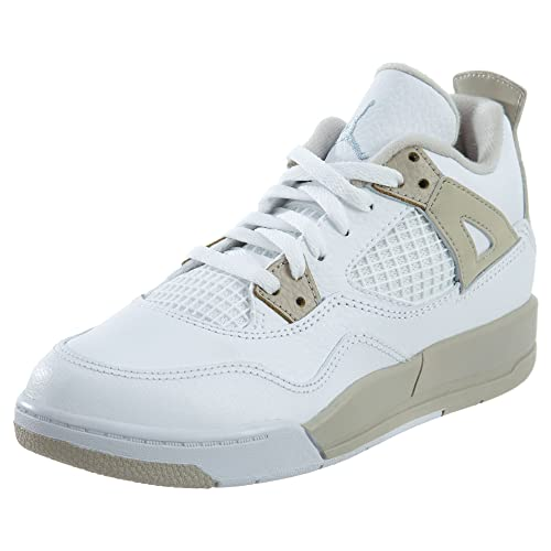 Jordan 4 Retro GP Little Kid s Shoes White Boarder Blue Light Sand 487725- 358f470ec