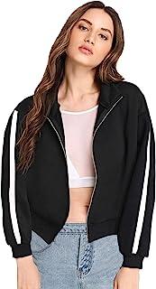 Fabricorn Plain Black Stylish Sweatshirt for Women (Black)