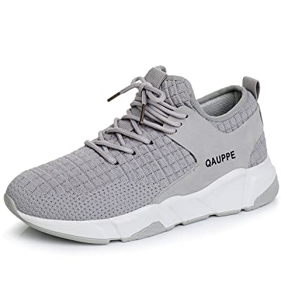 QAUPPE Womens Adult Knitting Mesh Running Sneakers