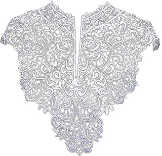 1 Pc Embroidered Lace Patches Lace Collar For Wedding Dress Applique Collar Decoration